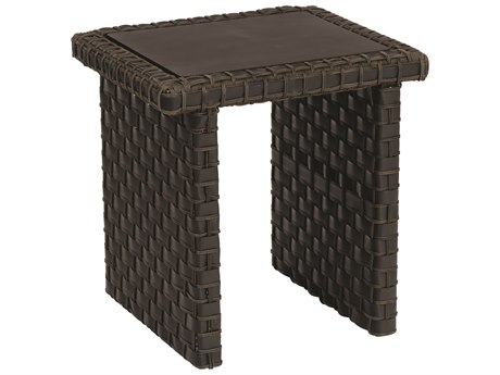 Woodard Cooper Wicker 20 x 18 Rectangular End Table
