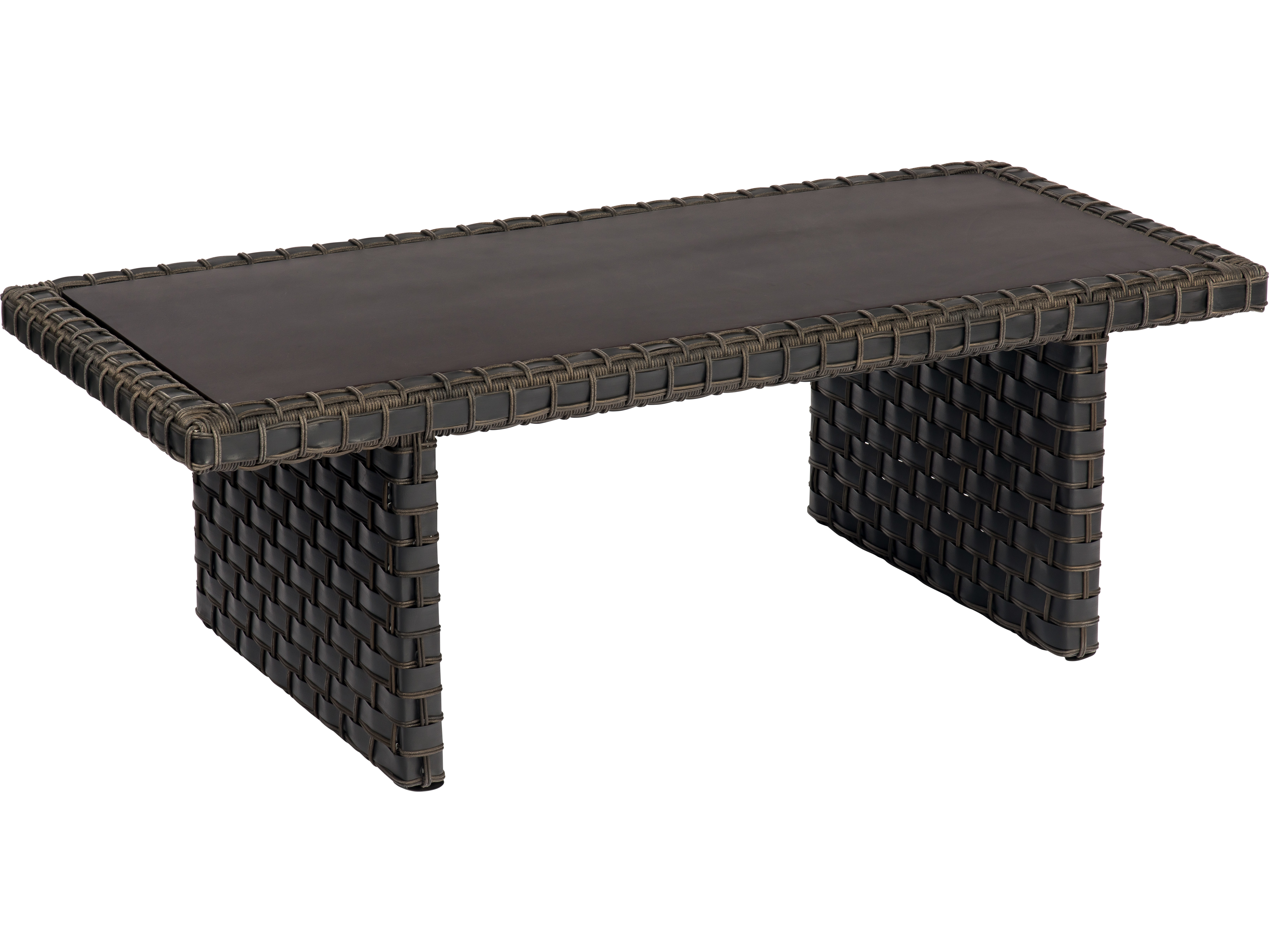 Woodard Cooper Wicker X Rectangular Coffee Table S - Cooper end table