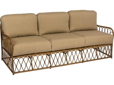 Woodard Cane Aluminum Sofa