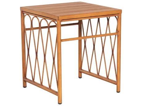 Woodard Cane Aluminum 19'' Wide Square End Table