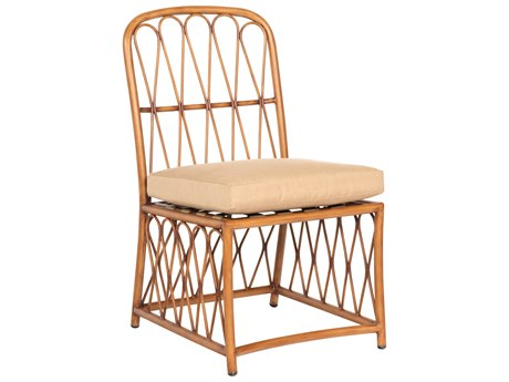 Woodard Cane Aluminum Cushion Dining Side Chair
