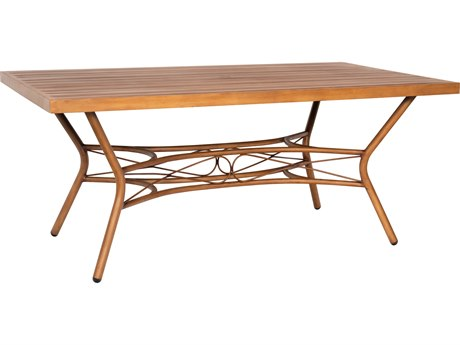 Woodard Cane Aluminum 72''W x 40''D Rectangular Dining Table