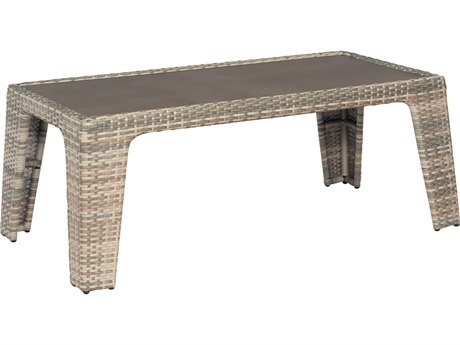 Woodard Santa Fe Wicker 48''W x 24'' Rectangular Coffee Table