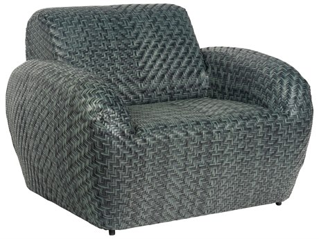 Woodard Trident Wicker Lounge Chair
