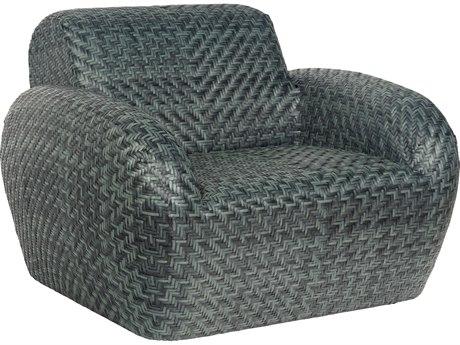 Woodard Trident Wicker Swivel Lounge Chair