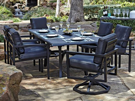 Woodard Salona Cushion By Joe Ruggiero Aluminum Dining Set