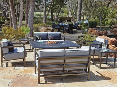 Woodard Salona Cushion By Joe Ruggiero Aluminum Lounge Set