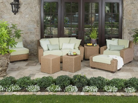 Woodard Whitecraft Saddleback Wicker Lounge Set