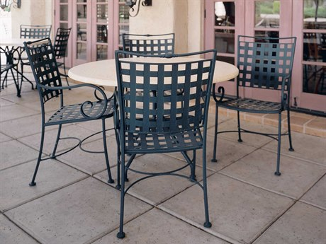 Woodard Sheffield Wrought Iron Dining Set