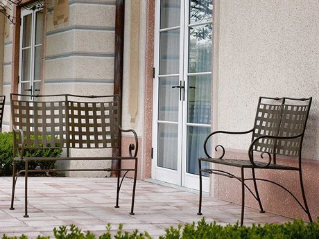 Woodard Sheffield Wrought Iron Lounge Set