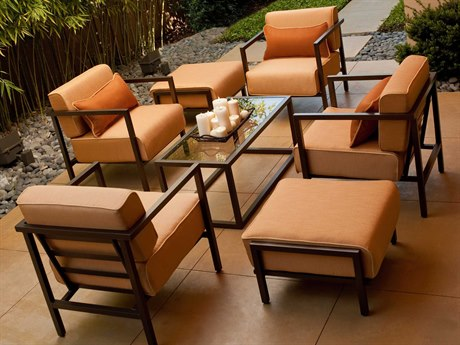 Woodard Salona Cushion By Joe Ruggiero Aluminum Lounge Set PatioLiving