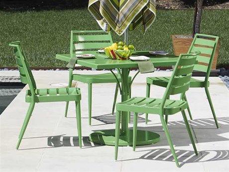 Woodard Slat Aluminum Dining Set