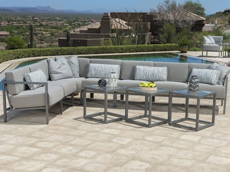 Woodard Salona Cushion By Joe Ruggiero Aluminum Sectional Lounge Set