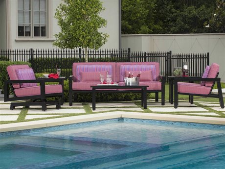 Woodard Soho Cushion Aluminum Lounge Set