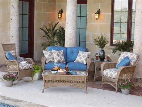 Woodard Whitecraft Sommerwind Wicker Lounge Set
