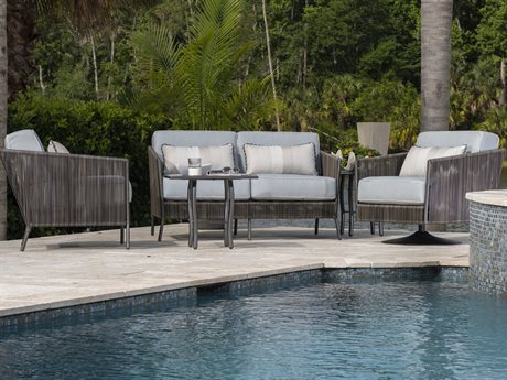 Woodard Sonata Slate Wicker Lounge Set