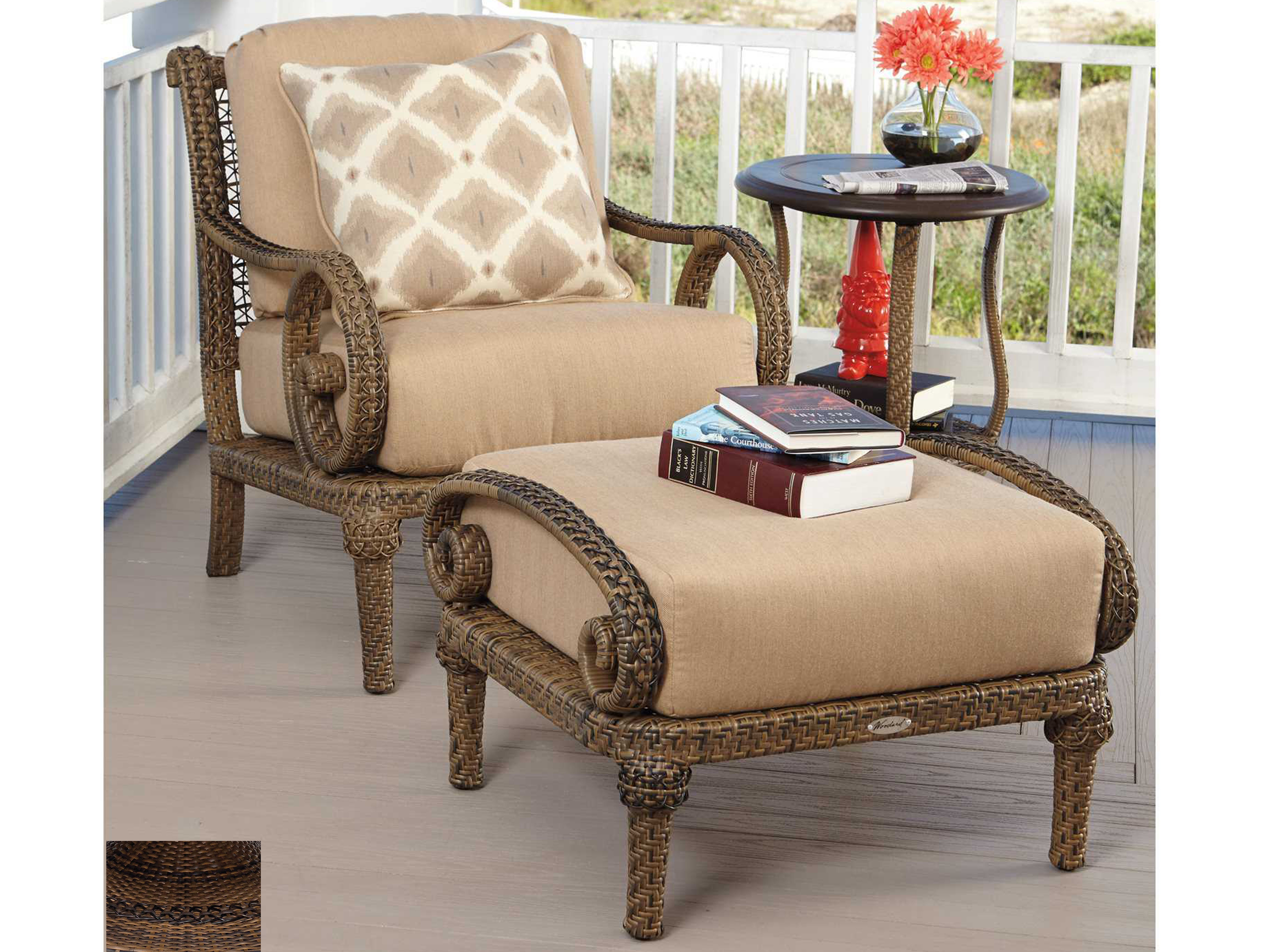 Woodard South Shore Wicker End Table Base