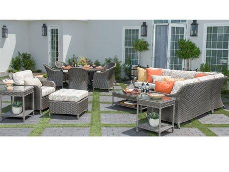 Woodard Savannah Wicker Sectional Lounge Set