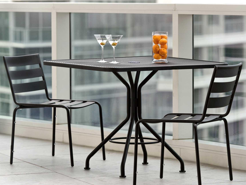 Woodard Wrought Iron Cafe Series Dining Set Wrtdbds