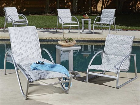 Woodard Tribeca Padded Sling Aluminum Lounge Set