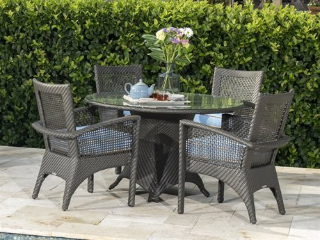 Woodard Trinidad Java Wicker Dining Set
