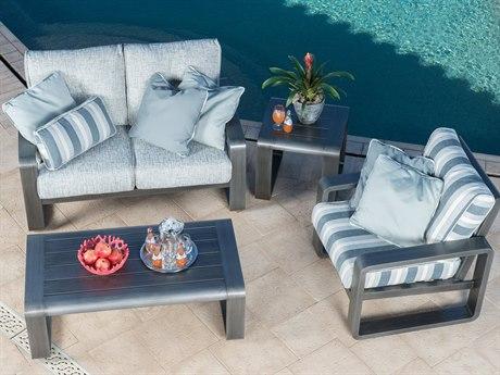 Woodard Vale Cushion Aluminum Lounge Set