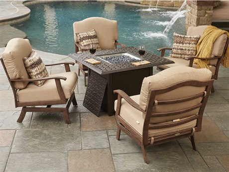 Woodard Exclusive Quick Ship Ventura Fire Pit Set