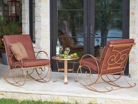 Woodard Wellington Wrought Iron Cushion Lounge Set