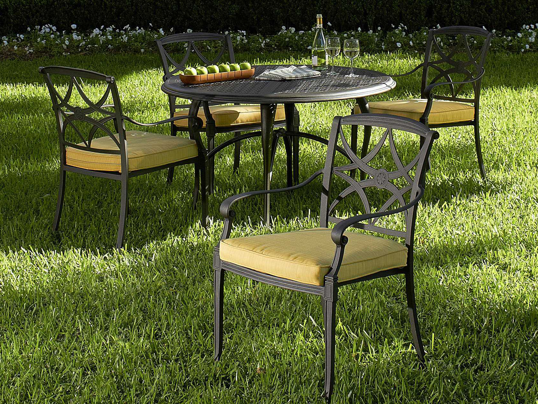 Woodard Wiltshire Cast Aluminum Dining Chair 4q0417