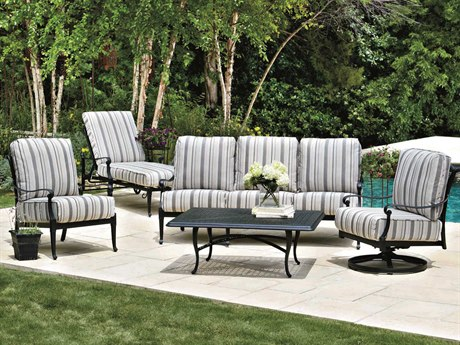 Woodard Wiltshire Cast Aluminum Lounge Set