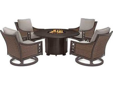 winston quick ship aluminum 44 round slat top fire pit table wshqfp044. Black Bedroom Furniture Sets. Home Design Ideas