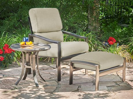 Winston Belvedere Cushion Quick Ship Aluminum Lounge Set