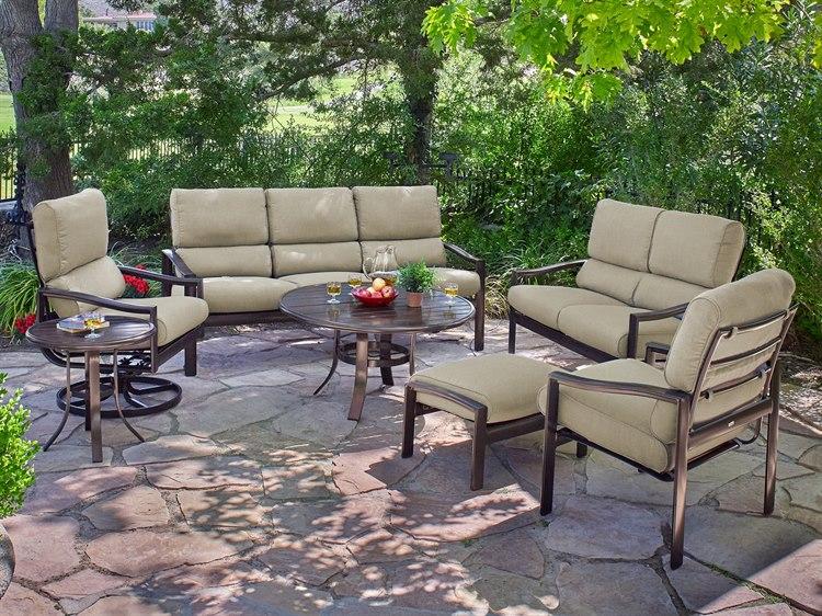 Winston Belvedere Cushion Quick Ship Aluminum Lounge Set