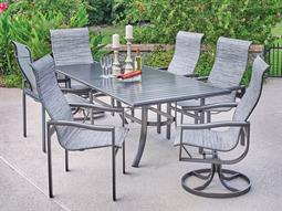 Belvedere Sling Quick Ship Aluminum Dining Set