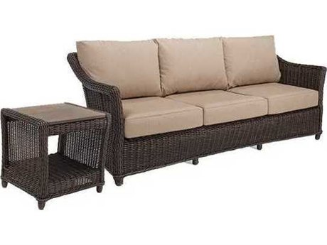 Winston Quick Ship Breeze Woven Cushion 2 Piece Sofa Lounge Set