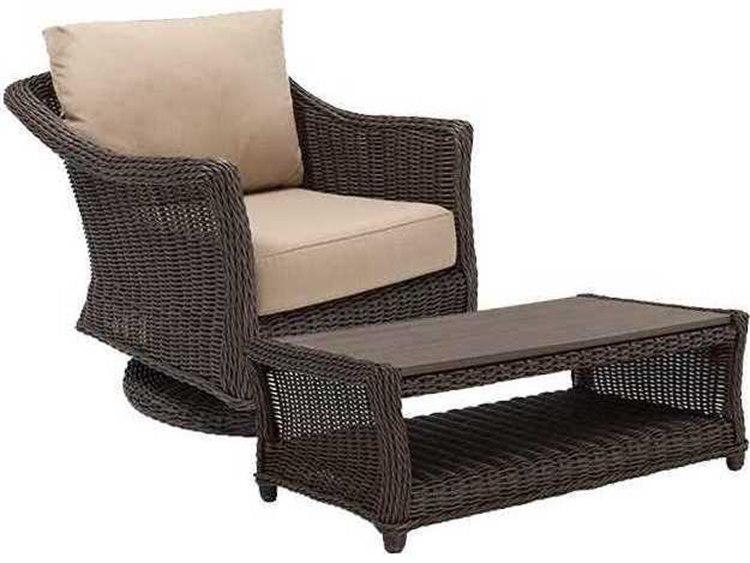 Winston Quick Ship Breeze Woven Cushion 2 Piece Swivel Tilt Lounge Chair Set