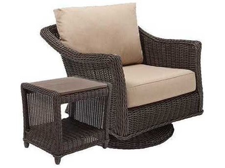 Winston Quick Ship Breeze Woven Cushion 2 Piece Swivel Tilt Lounge Chair Set