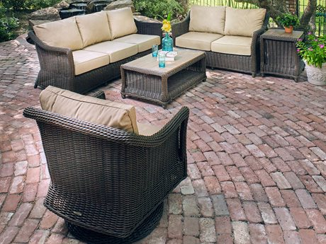Winston Breeze Woven Quick Ship Wicker Lounge Set