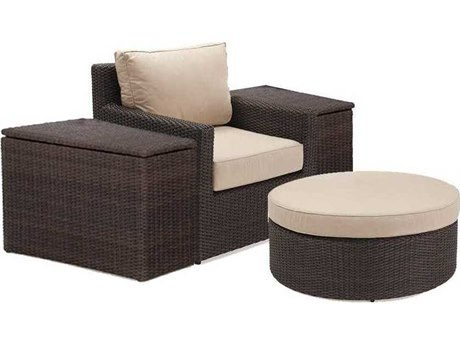 Winston Quick Ship Capri Woven Cushion 4 Piece Lounge Chair Set