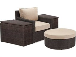 Quick Ship Capri Woven Cushion 4 Piece Lounge Chair Set