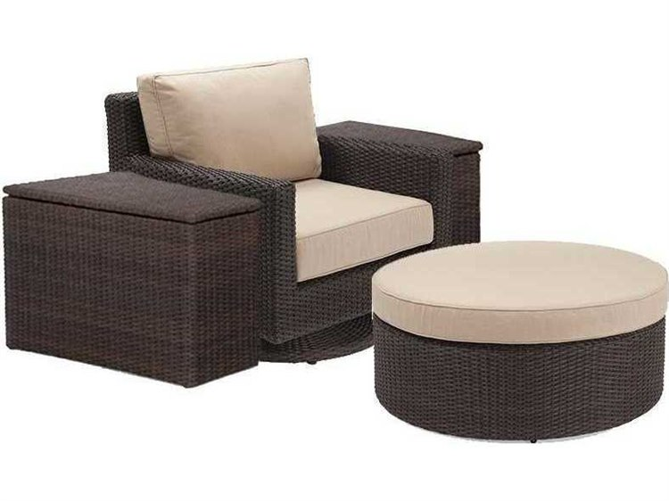 Winston Quick Ship Capri Woven Cushion 4 Piece Swivel Tilt Lounge Chair Set PatioLiving