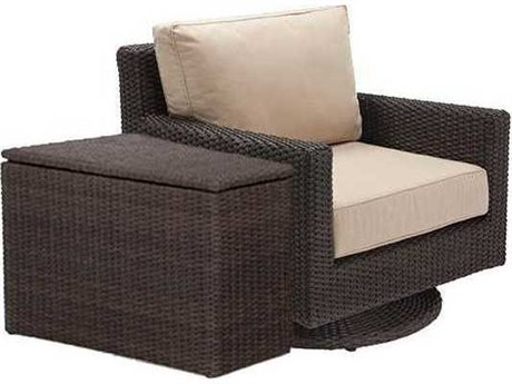 Winston Quick Ship Capri Woven Cushion 2 Piece Swivel Tilt Lounge Chair Set
