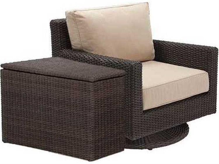 Winston Quick Ship Capri Woven Cushion 2 Piece Swivel Tilt Lounge Chair Set