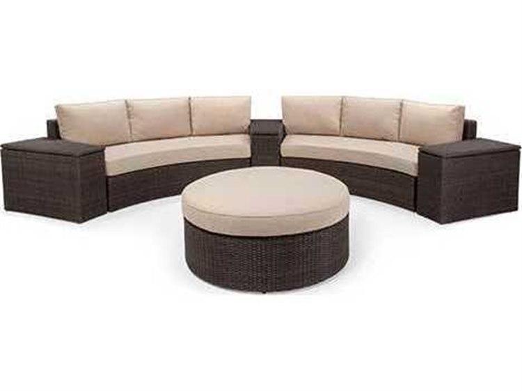 Winston Quick Ship Capri Woven Cushion 6 Piece Sectional Crescent Sofa Set