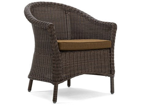 Winston Quick Ship La-Z-Boy Cumberland Brown Wicker Dining Arm Chair in Spectrum Caribou (Sold in Quantities of 2)