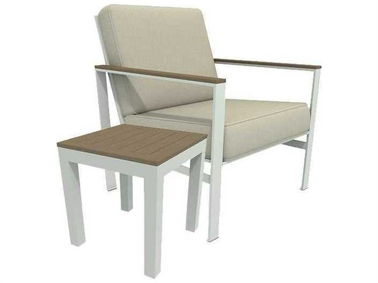 Winston Quick Ship Echo Deep Seating Aluminum Resin Wood 2 Piece Lounge Set