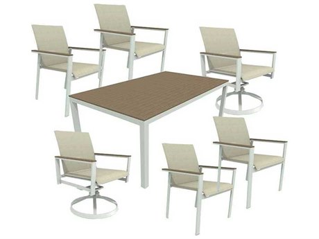 Winston Quick Ship Echo Sling Aluminum Dining Set