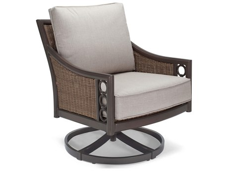 Winston Quick Ship Avignon Wicker Cushion Swivel Tilt Lounge Chair