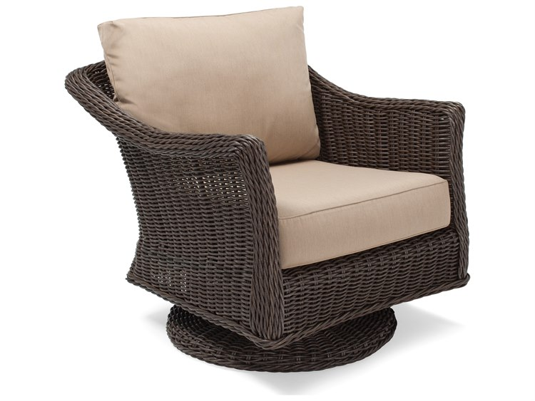 Winston Quick Ship Breeze Woven Cushion Swivel Tilt Lounge Chair Hq140820