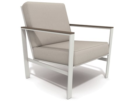 Winston Quick Ship Echo Deep Seating Aluminum Resin Wood Lounge Chair